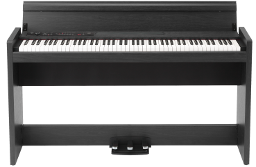 KORG Digitalpiano, LP380, 30 Sounds, 2x22 Watt, Rosewood Grain Black Finish